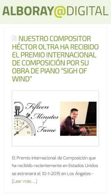 "Alboraya Digital - Premio ""Sigh of Wind"" (EE.UU)"